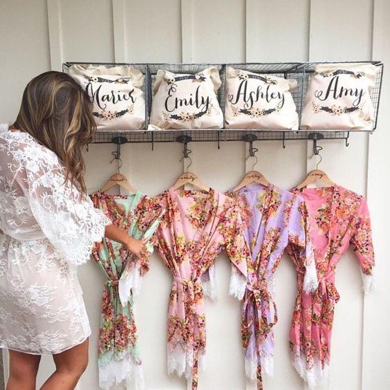 Bridesmaid Gift Ideas Bathrobes For Women Bride And Bridesmaid Robes