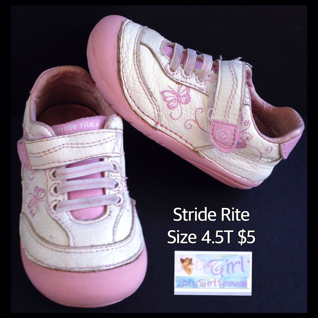 Stride Rite Size 4.5 Infant Toddler Girls Tennis Shoes $5