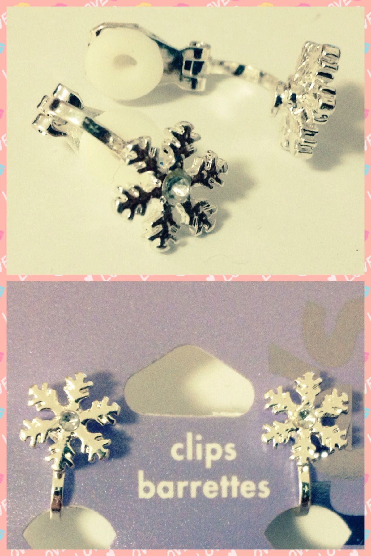 Snowflake Earrings from Claire's - Sale@€1,-