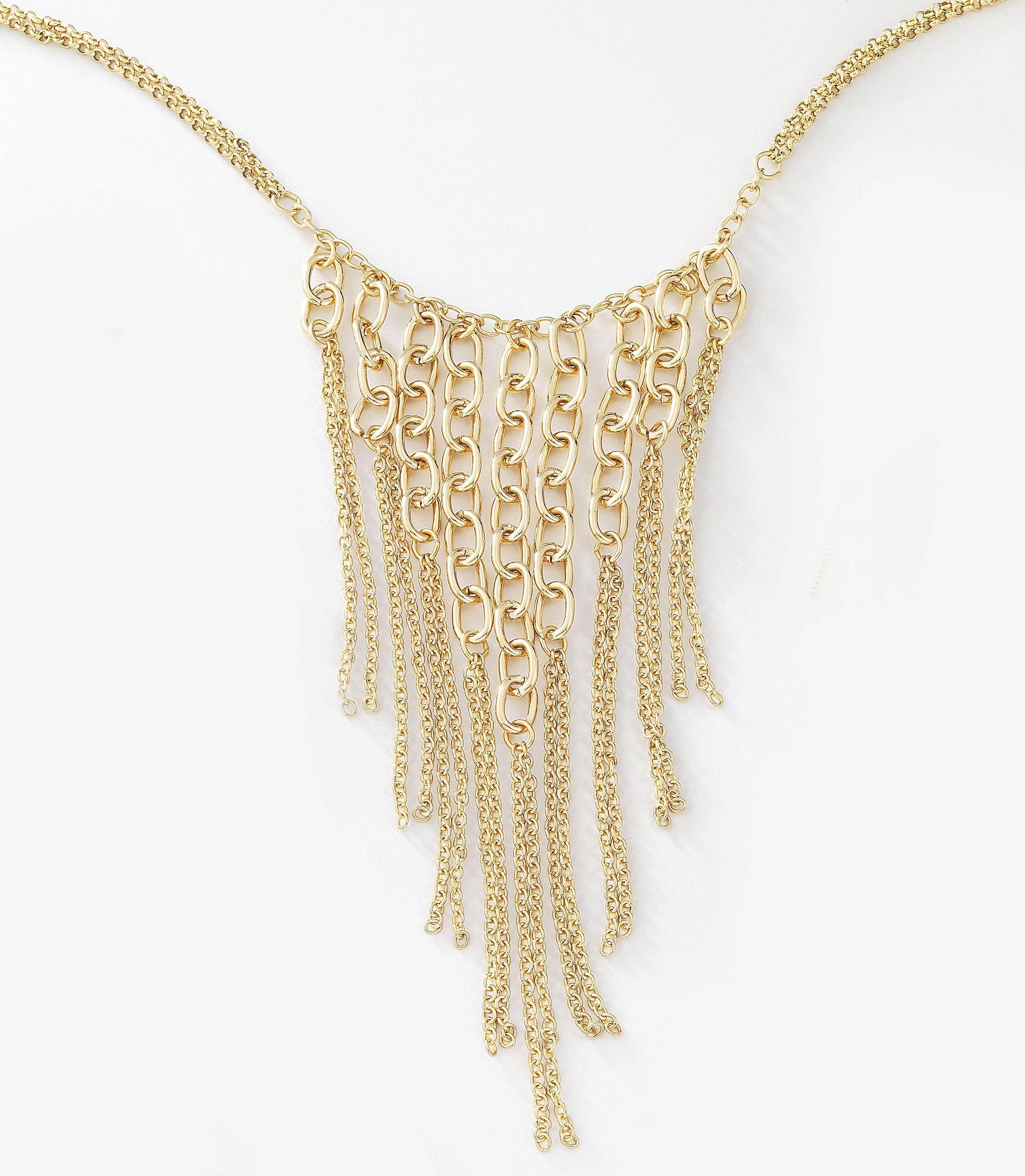4d5b2e3bd1b9 Vistoso collar con colgante de eslabones grandes y pequeños ...