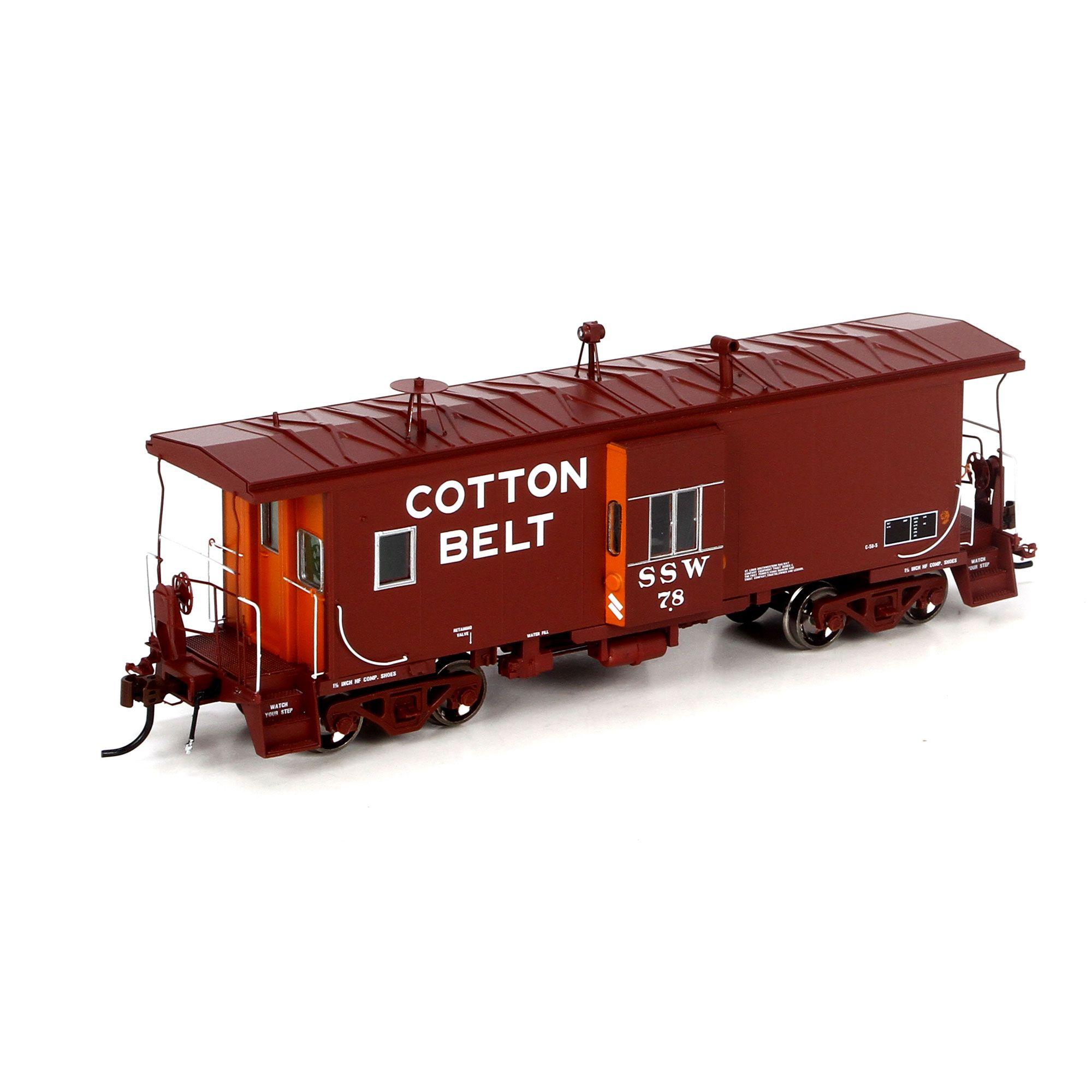 HO BW C-50-5 Caboose w/Lights, Cotton Belt #78 (ATHG63024): Athearn Trains