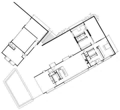 Tubac House Rick Joy Plan Drawing Contemporary Architecture House Plans