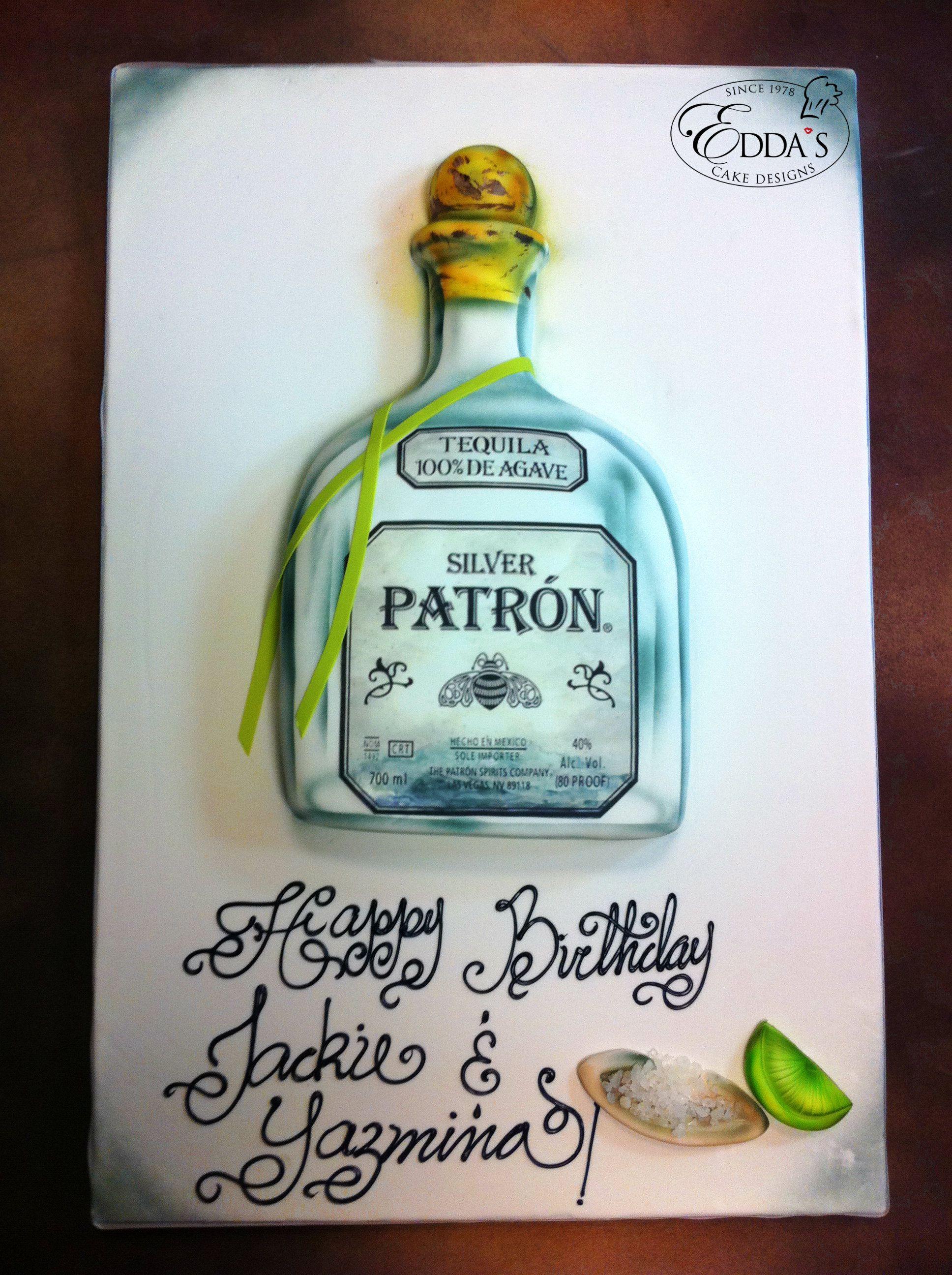 Patron Tequila Birthday Cake Httpwwweddascakedesignscom - Patron birthday cake
