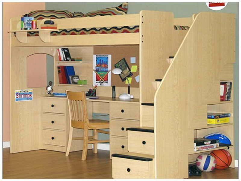 Loft Bed With Desk Underneath Plans Vizimac Kinderhochbett Etagenbett Schreibtisch Betten Fur Kinder