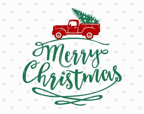 merry christmas svg christmas tree svg christmas truck svg christmas red truck christmas svg