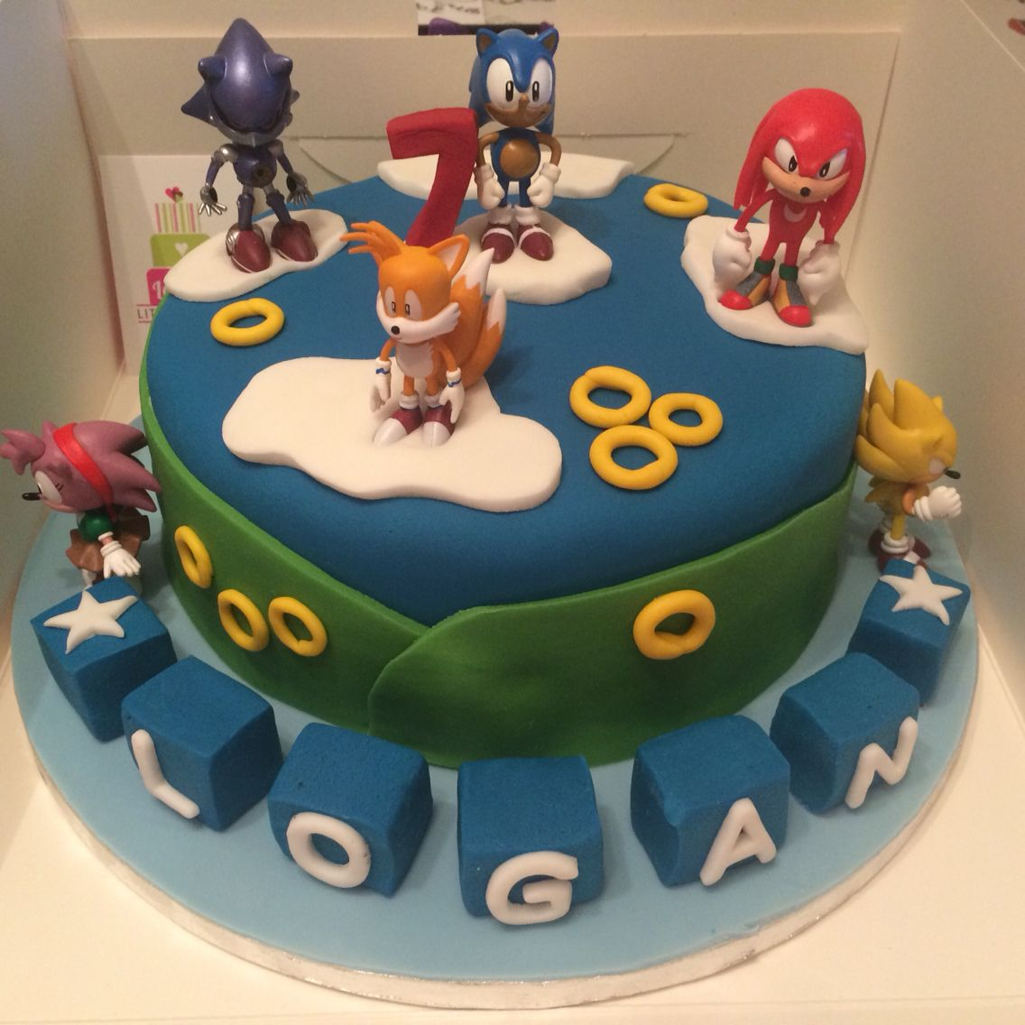 Sonic And Friends Cake Hedgehog Cake Hedgehog Birthday Friends