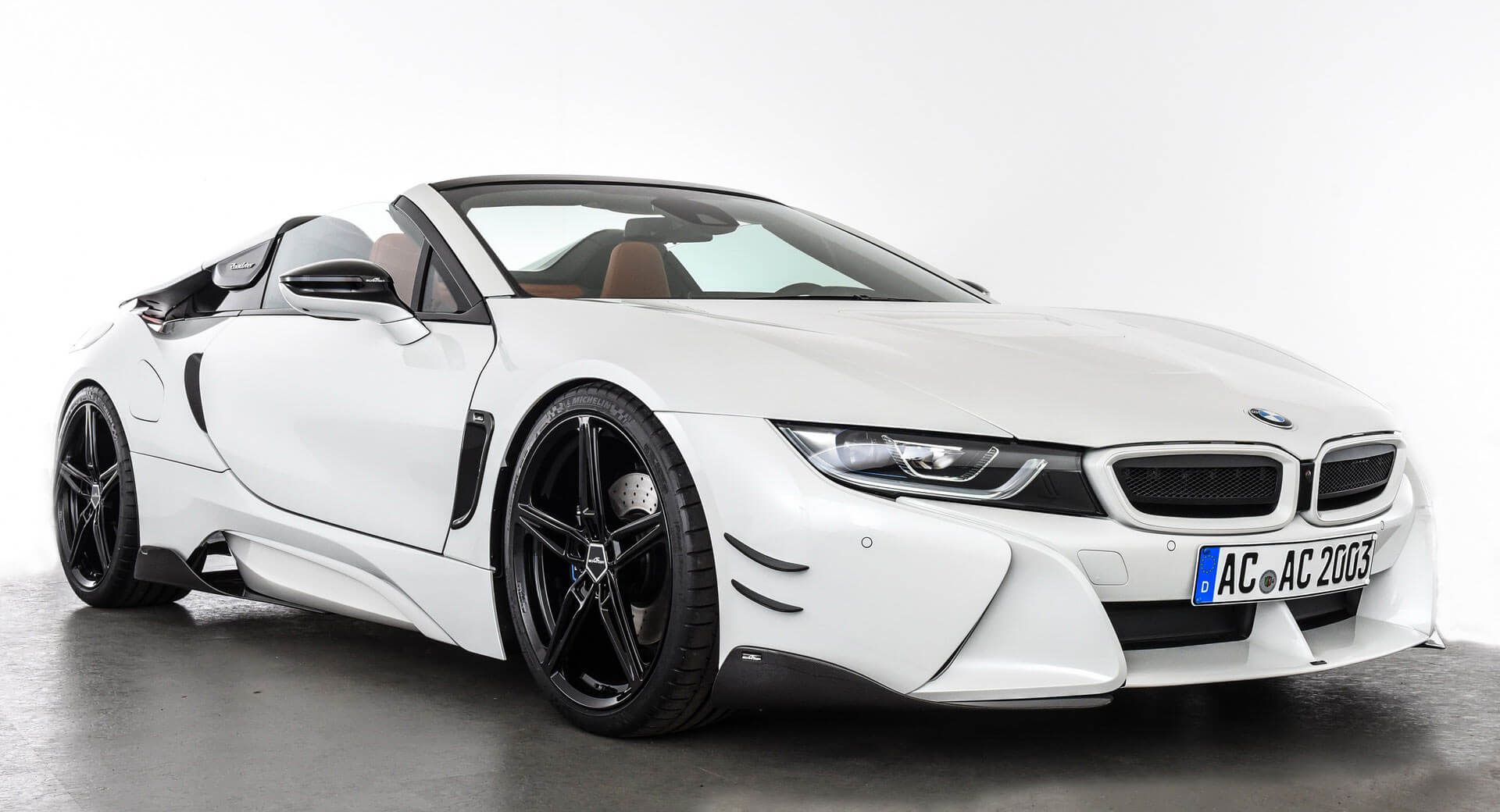 Ac Schnitzer Helps New Bmw I8 Roadster Improve Its Stance Carscoops Expensive Sports Cars Bmw I8 Bmw