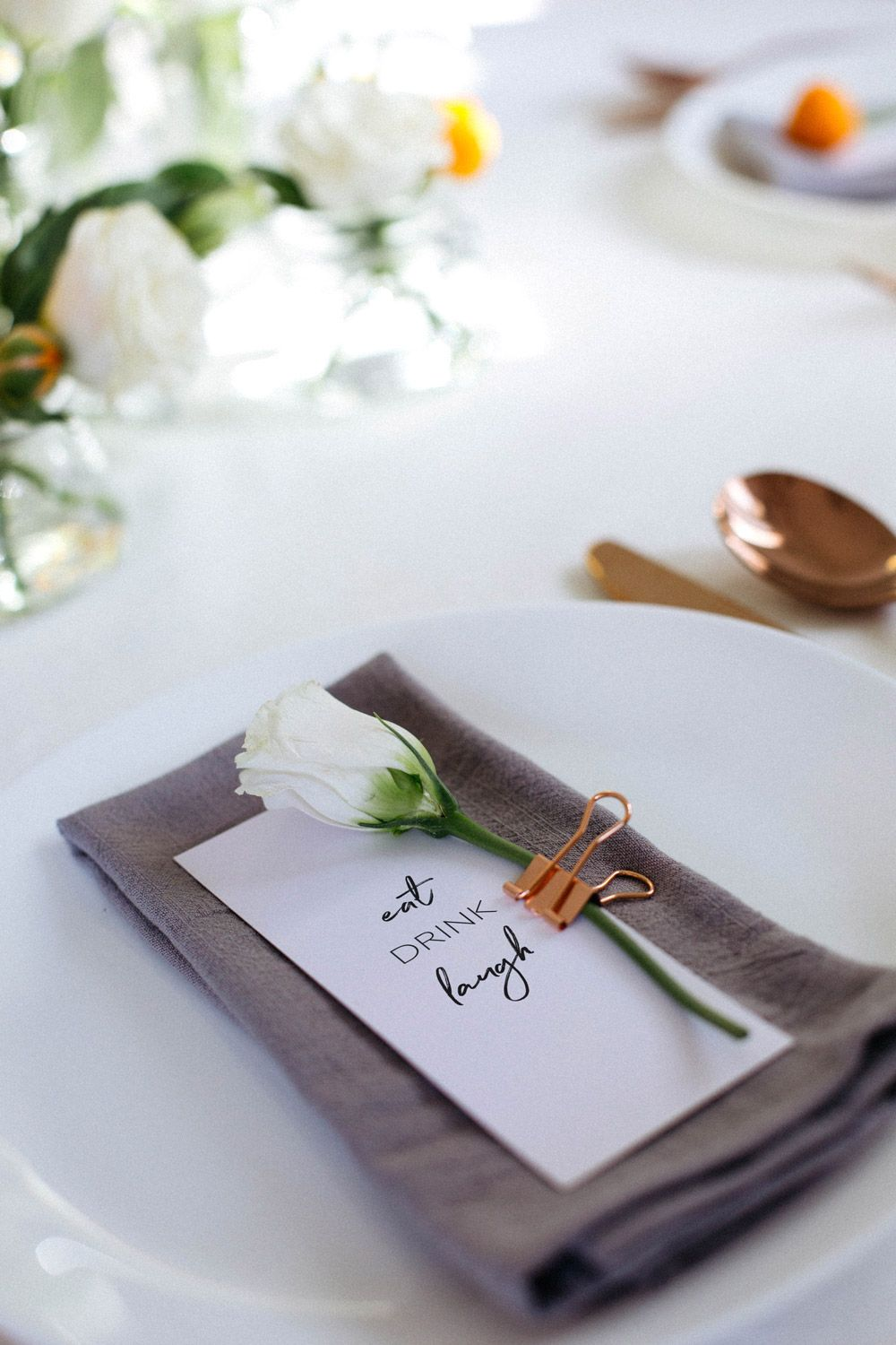 Styling a floral table setting   Flower market, Table settings and ...