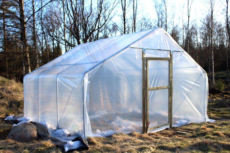 Tunnelväxthus 5m x 4,5m | Kitchen garden | Pinterest | Gardens