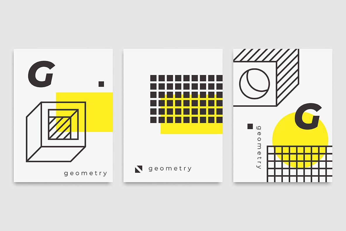 78 geometric shapes 22 posters graphics762