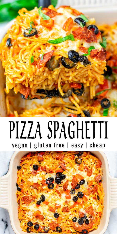 Pizza Spaghetti [vegan, easy] - Contentedness Cook