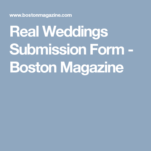 Real Weddings Submission Form
