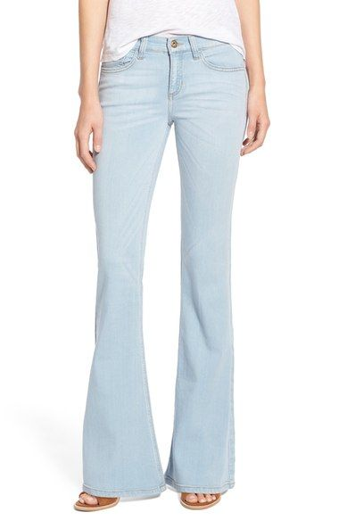 SP Black Stretch Denim Flare Jeans   Denim flare jeans