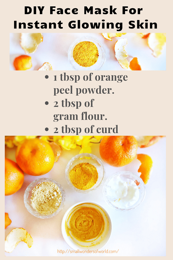 Diy Face Mask For Instant Glowing Skin Glowing Skin Mask Glowing Skin Natural Hair Mask