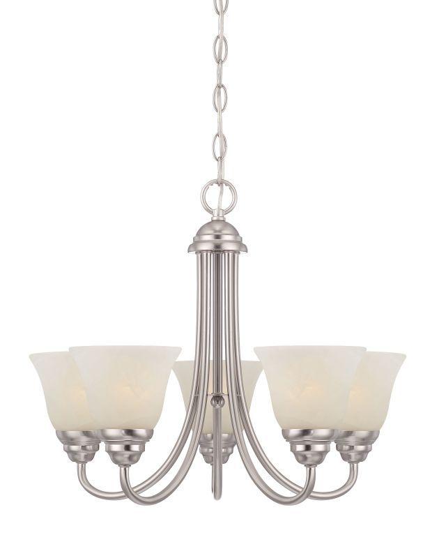 Designers Fountain 85185 Kendall 5 Light 1 Tier Mini Chandelier Satin Platinum Indoor Lighting Chandeliers