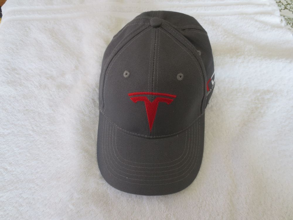 Tesla Motors Cap Hat, grey Baseball Style #Tesla #BaseballCap