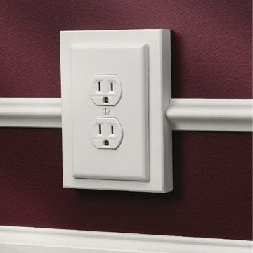 Mounting an outlet on a block makes your moldings fit flat against ...