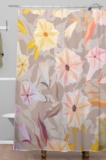 Deny Designs Iveta Abolina Bertadene Garden I Shower Curtain Bedding Design Baby Clothes Shops Curtains