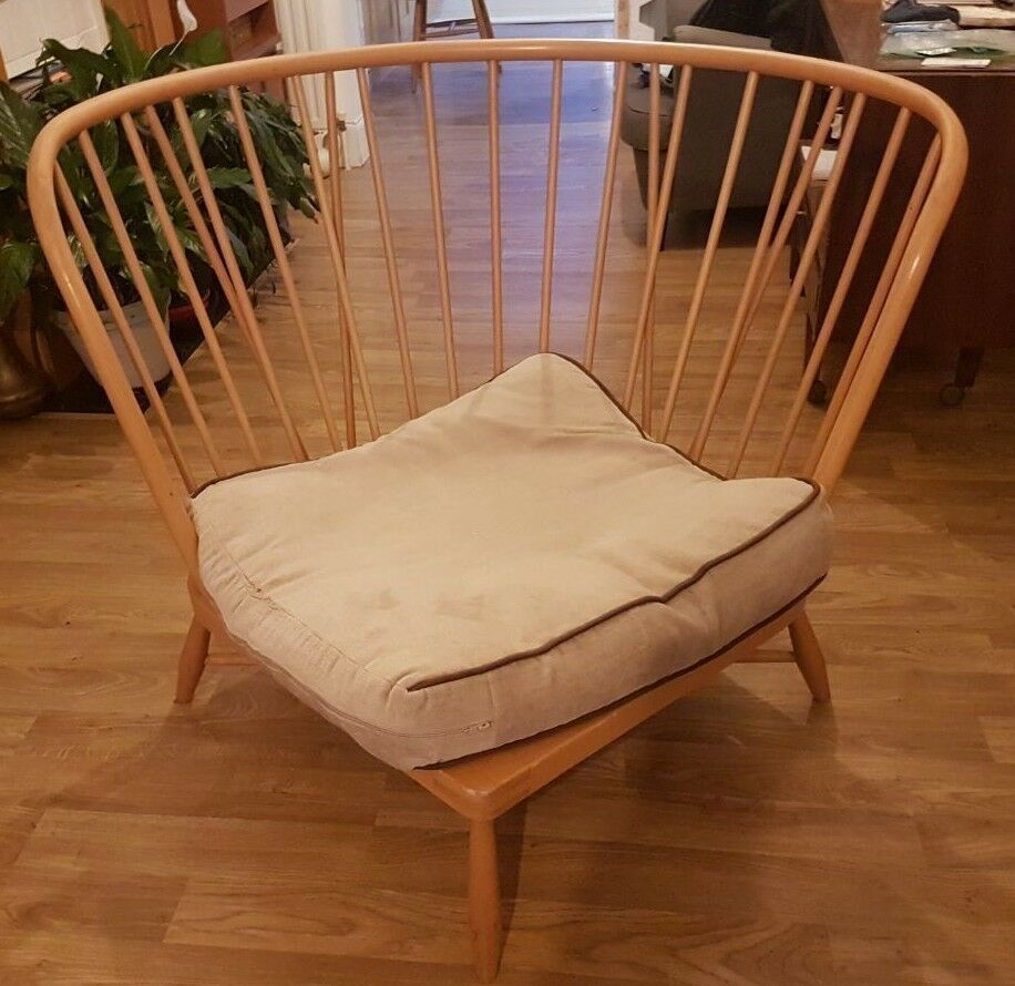 50 Cool And Creative Shabby Chic Dining Rooms: Rare Ercol Jubilee Blonde Unique Corner Seat (no Cushions