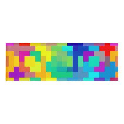 seamless pixel background with colorful name tag modern style idea design custom idea - Name Tag Design Ideas