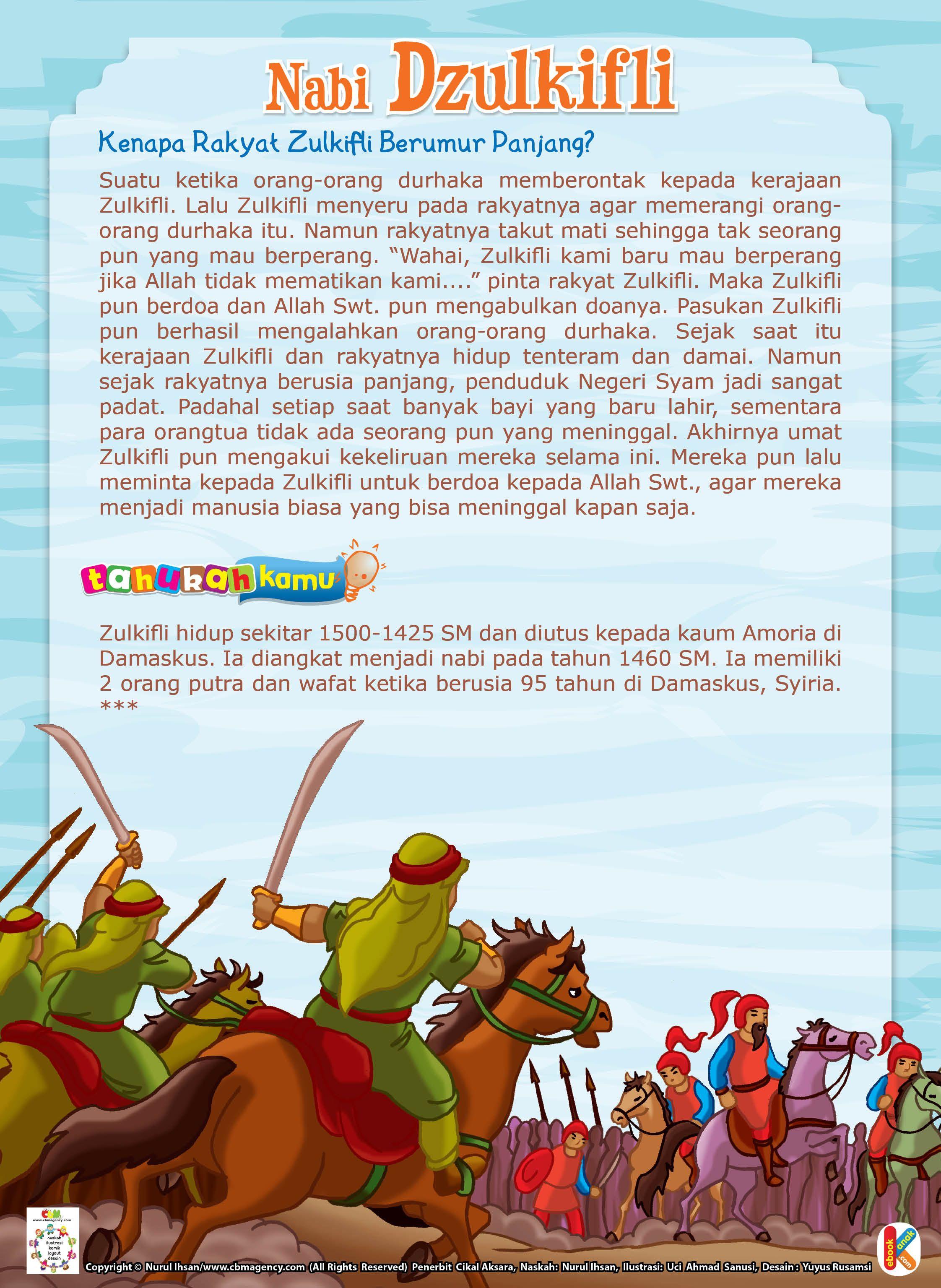 Sejarah Nabi Zulkifli : sejarah, zulkifli, Rakyat, Zulkifli, Berumur, Panjang, Pendidikan,, Literasi,