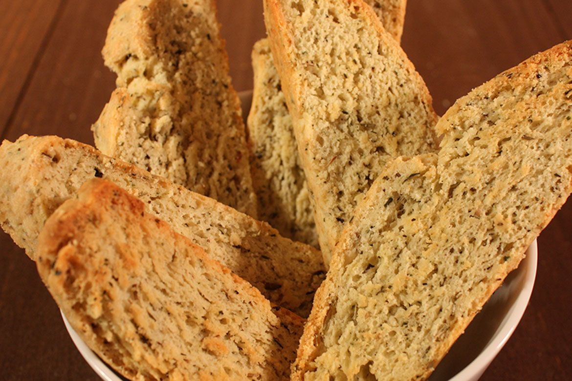 Savory Herb and Cheese Biscotti - These are great with soups and salads! by Don't Sweat The Recipe