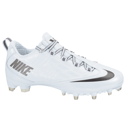 another chance 7dd10 7664d Nike Vapor Carbon Fly 2 TD Lacrosse Cleats - White Gray   Lacrosse Unlimited
