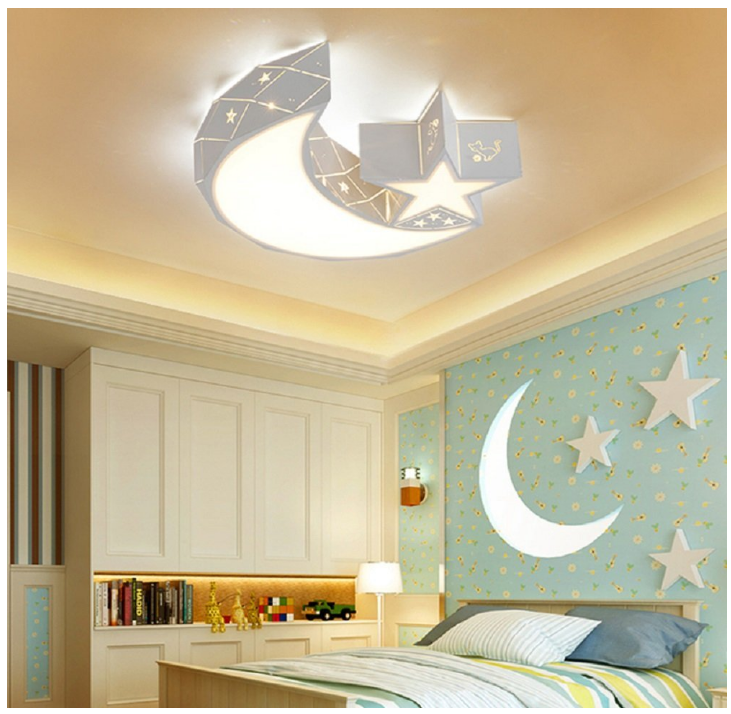 Star Moon Light Fixture Kid S Room Ceiling Lamp Led Baby Bedroom Light Fixture Ebay Led Lighting Bedroom Childrens Bedroom Lighting Baby Bedroom Light