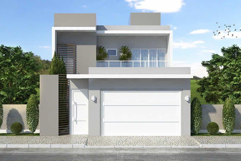 Apresentamos um excelente projeto para um terreno de 8 metros de largura por 20 metros de - Casa con terreno ...