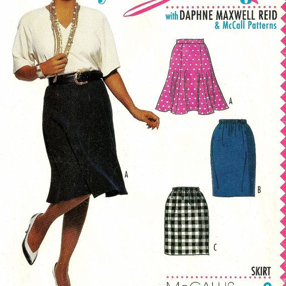 A Swingy Gored Skirt, and Straight Skirt in Two Lengths Pattern