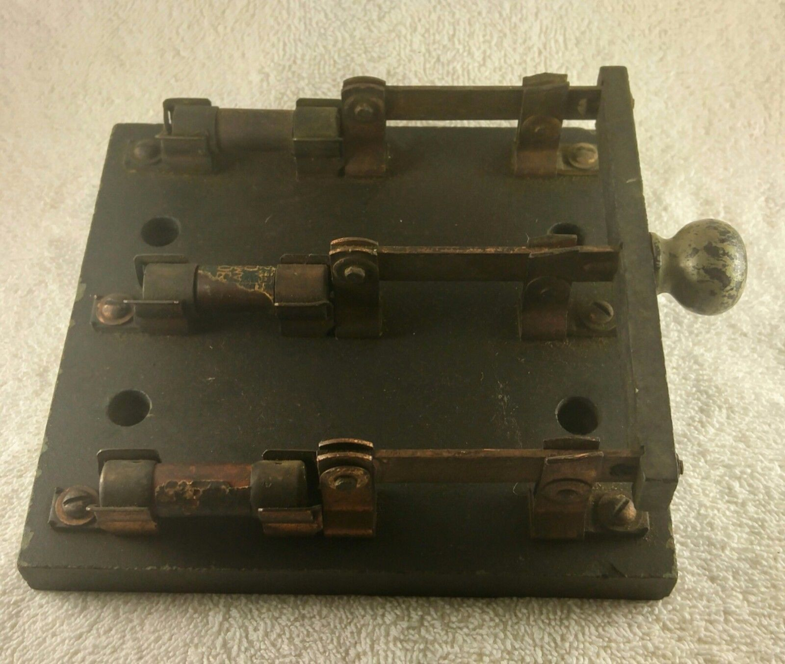 vintage single throw 3 pole knife switch steam punk with fuses 30a 250v ebay [ 1600 x 1353 Pixel ]