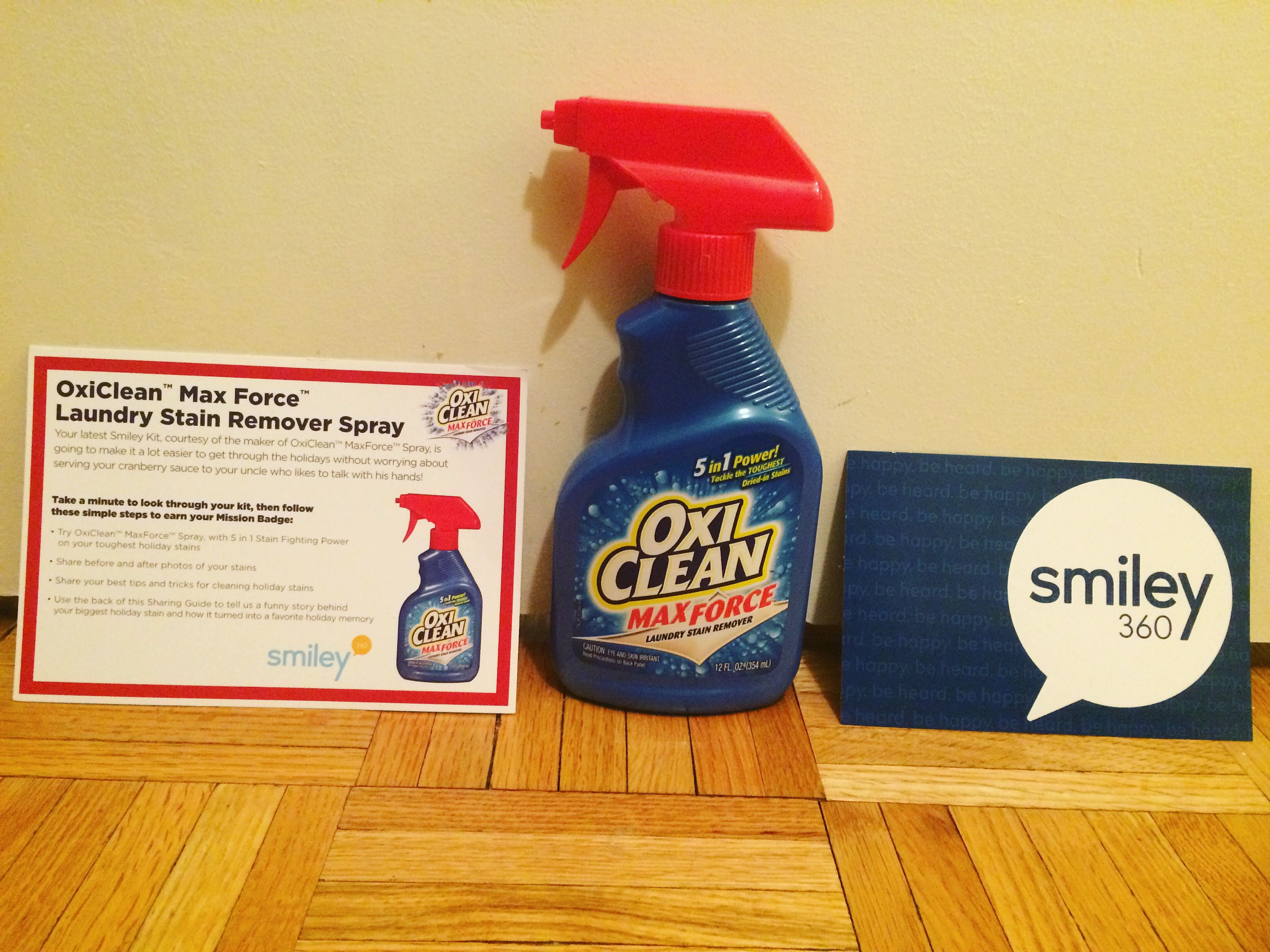 Freesample Oxiclean Max Force Laundry Stain Remover Spray Via