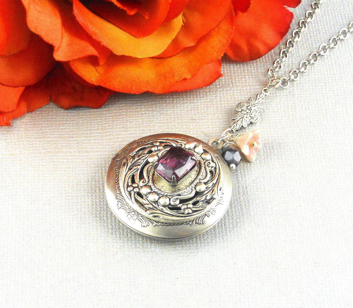 june light lockets birth crystal birthstone lt products jun love amethyst swarovski