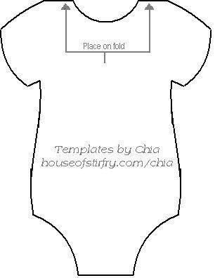 Here S The Template To Make The Onesie Banner For Baby Showers