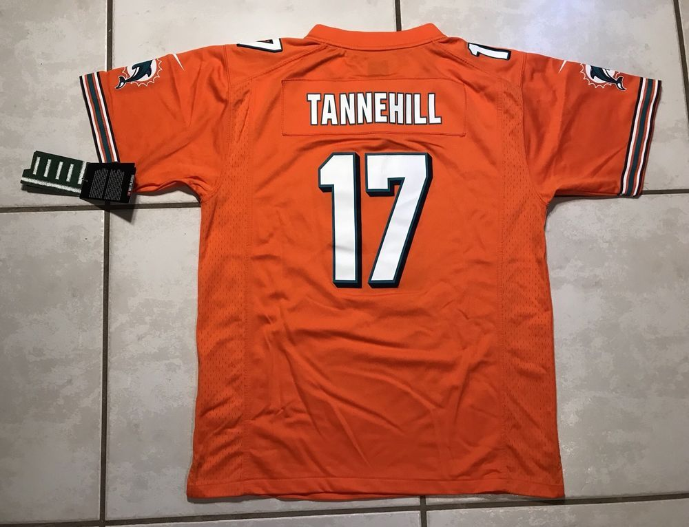 7a9f8df3 NWT NIKE Miami Dolphins Ryan Tannehill ORANGE NFL Jersey Youth Large ...