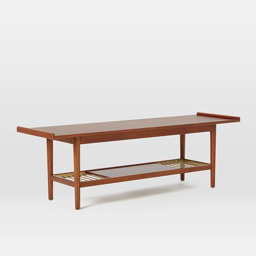 Admirable Mid Century Metal Slat Bench Westelm As Coffee Table Cjindustries Chair Design For Home Cjindustriesco