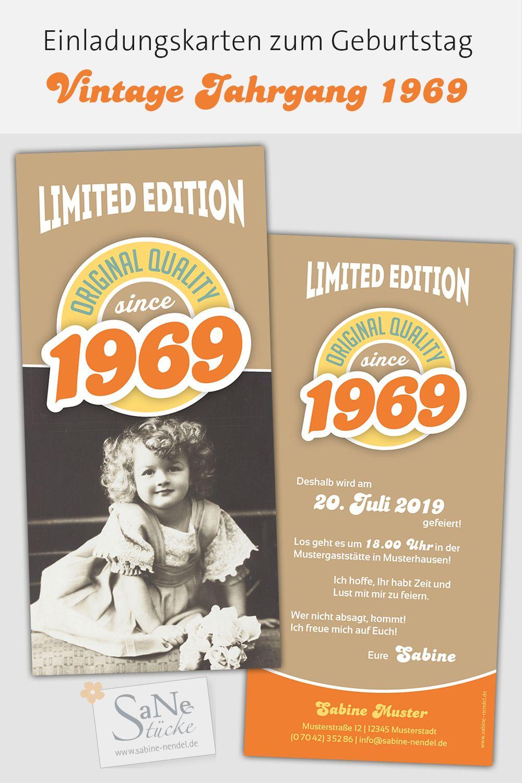 Einladungskarten Zum 50 Geburtstag Fur Alle Die 1969 Geboren