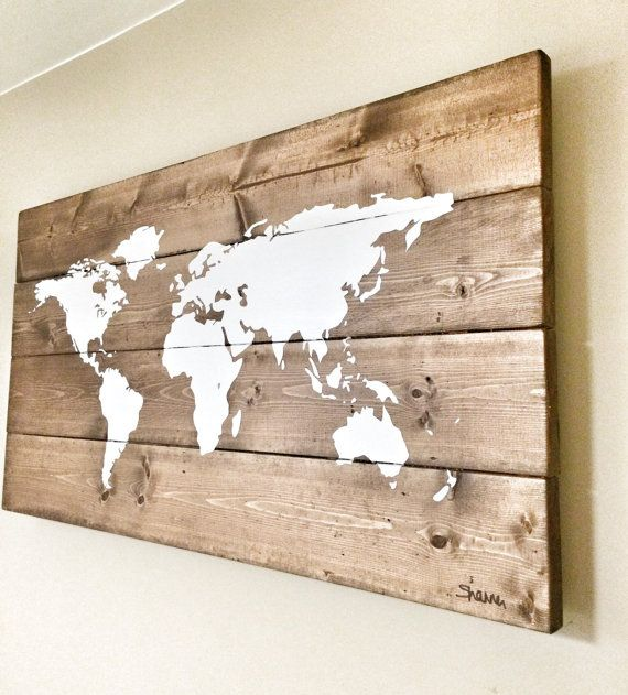 Rustic wood world map rustic decor farmhouse decor rustic nursery rustic wood world map rustic decor farmhouse by cherrytreegallery gumiabroncs Choice Image