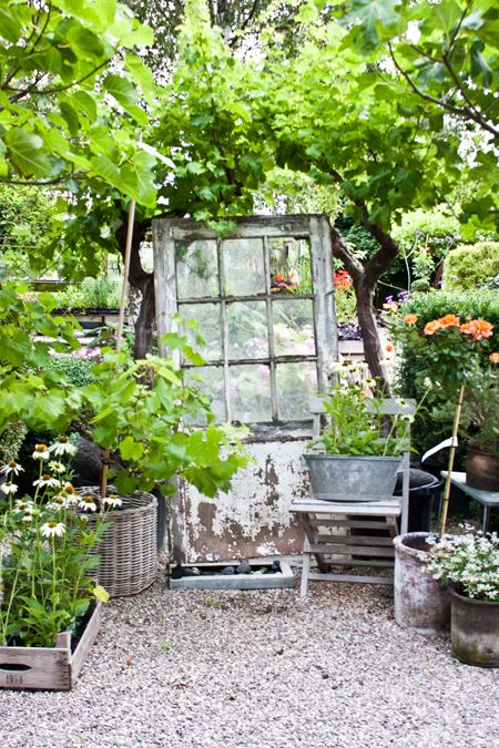 .using these old doors but the nice white ones like french doors could be a great camouflage for the shed in the backyard