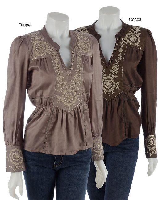 peasant shirts for women   peasant blouse 34 cocoa m shirts chaudry striking peasant shirt ...