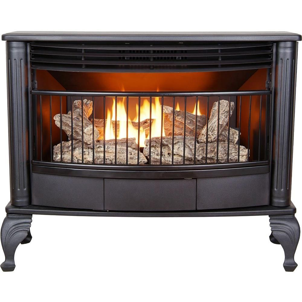 emberglow 25 000 btu vent free dual fuel gas stove with thermostat rh pinterest co uk dual gas wood fireplace insert