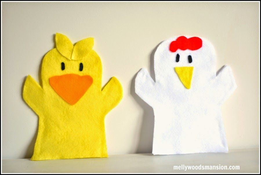 Old MacDonald\'s Farm Felt Puppets - No Sew puppets so cute for the ...