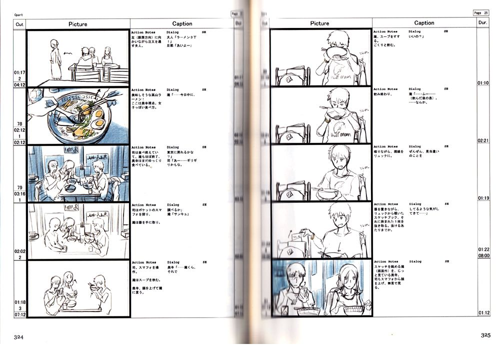 Storyboard by Makoto Shinkai Vol 2 - Your Name Book - Anime Books