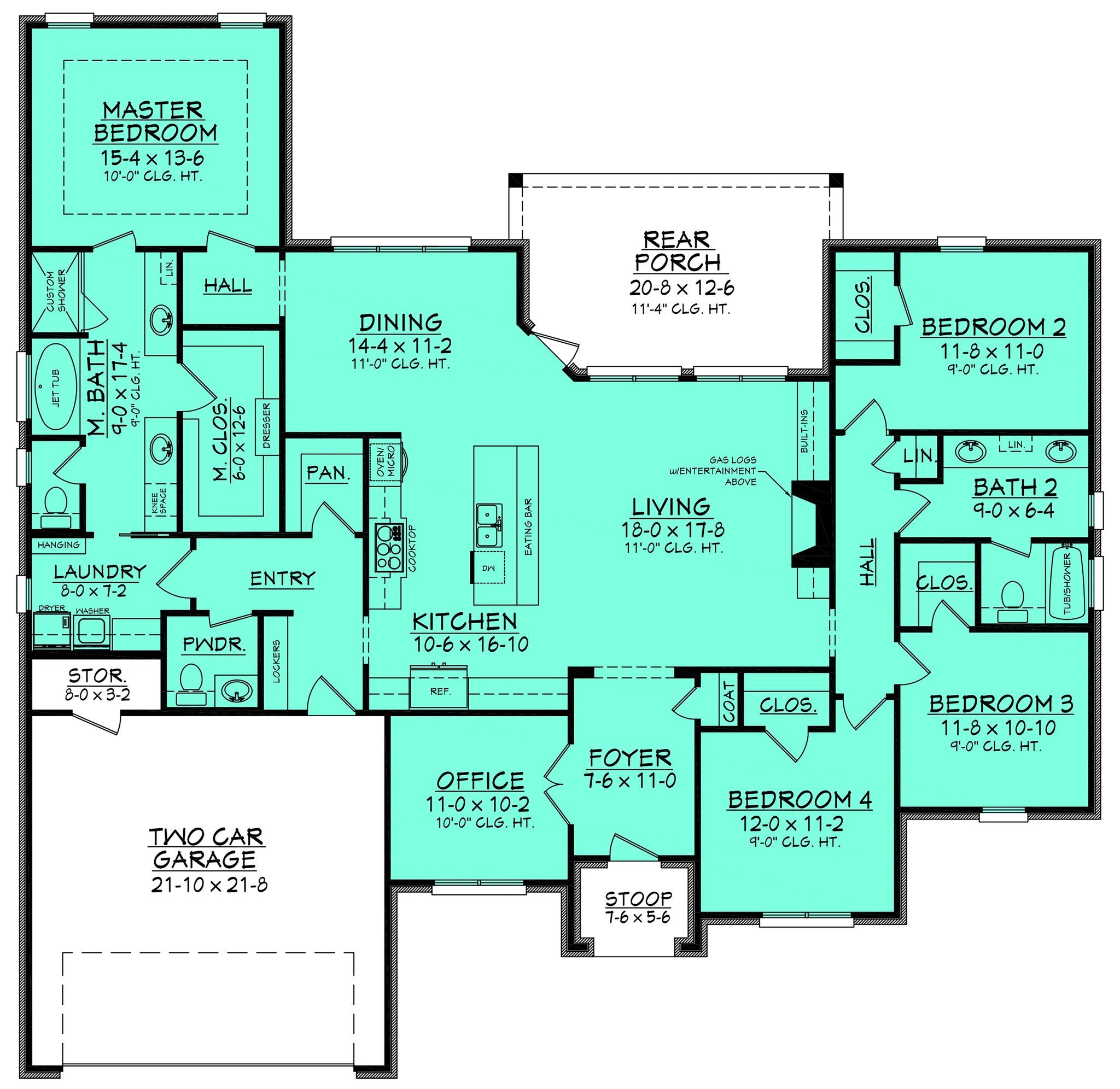Lyncrest House Plan   Large bedroom, Dining area and Bedrooms