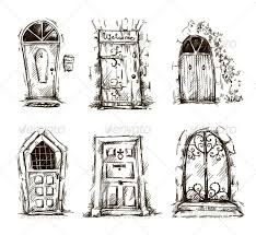 Vintage Door Drawing