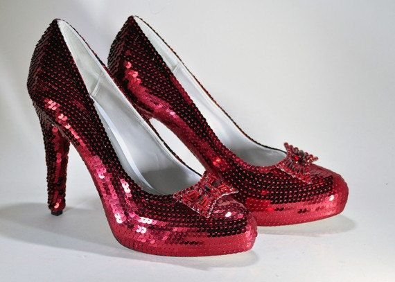 fce650b4e2 Stunning Red Sequin 5 Inch Stiletto Heels on Etsy - Dorothy's ruby  slippers, there's no place like home, The Wizard of Oz, oz-some shoes ❤️
