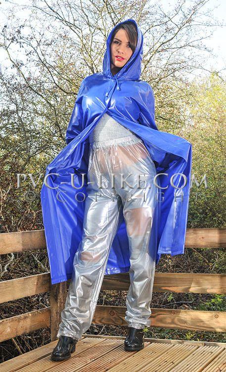 Fetish vinyl raincoat