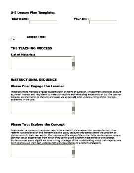 End Of The Year Project Youre Teacher Lesson Plan Format