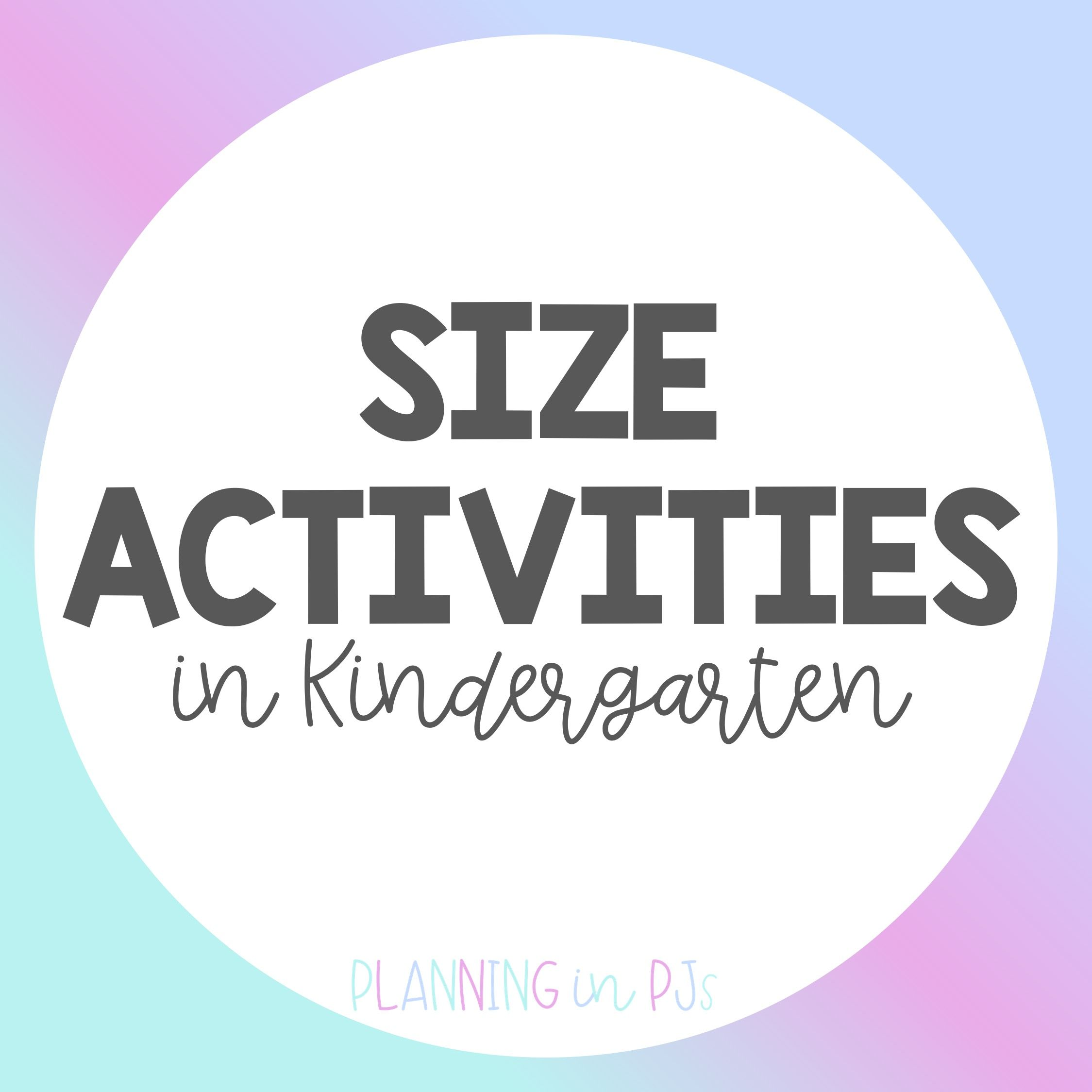Resources And Ideas Related To Teaching Size In Math In