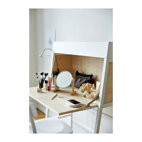 IKEA PS 2014 Sekretär - weiß Birkenfurnier - IKEA Raum\Zeit - ideen buromobel design ersa arbeitszimmer